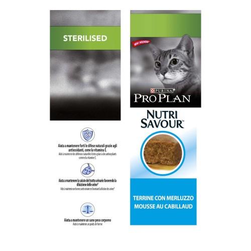 Alimentation pour chat - Proplan Nutrisavour Sterilised en mousse pour chats