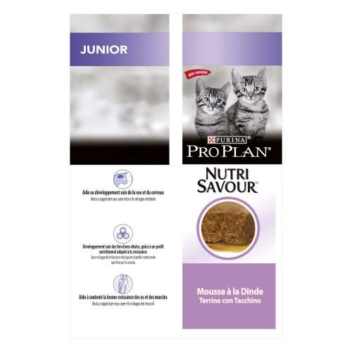 Alimentation pour chat - Proplan Nutrisavour Junior en mousse pour chats