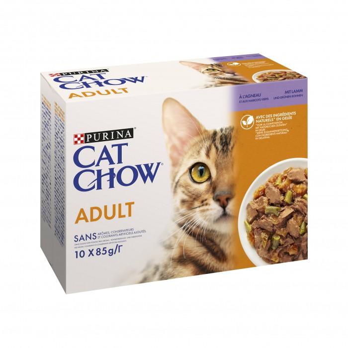 Alimentation pour chat - PURINA CAT CHOW Adult 1+ en gelée pour chats