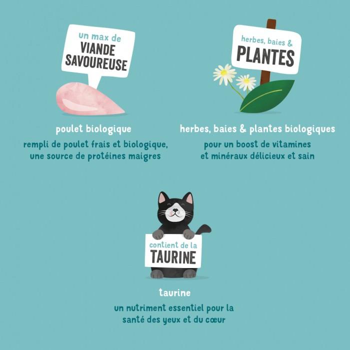 Alimentation pour chat - Edgard & Cooper, pâtée bio en barquettes pour chat pour chats