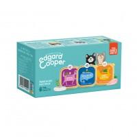 Pâtée en barquette pour chat - Edgard & Cooper Multipack 3 saveurs - 6 x 85 g