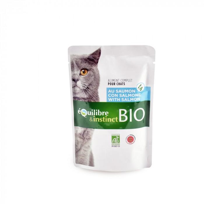 Alimentation pour chat - EQUILIBRE & INSTINCT Adulte Mitonné Bio - Lot 22 x 100 g pour chats