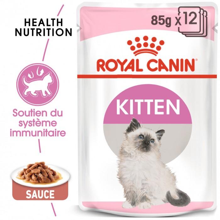 Alimentation pour chat - Royal Canin Kitten - Sauce pour chaton pour chats
