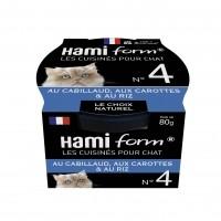 Pâtée en boîte pour chat - Hamiform - Les cuisinés pour chat Recettes au Cabillaud - 80 g