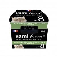 Pâtée en boîte pour chat - Hamiform - Les cuisinés pour chat Recettes au Canard - 80 g