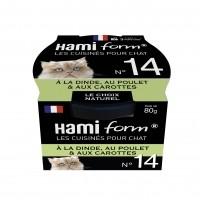 Pâtée en boîte pour chat - Hamiform - Les cuisinés pour chat Recettes à la Dinde - 80 g
