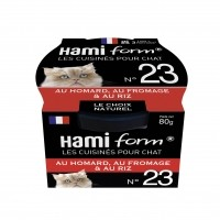 Pâtée en boîte pour chat - Hamiform - Les cuisinés pour chat Recettes au Homard - 80 g