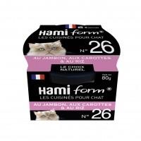 Pâtée en boîte pour chat - Hamiform - Les cuisinés pour chat Recettes au Jambon - 80 g