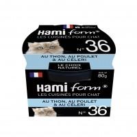 Pâtée en boîte pour chat - Hamiform - Les cuisinés pour chat Recettes au Thon - 80 g