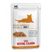 Pâtée en sachet fraîcheur pour chat - ROYAL CANIN Veterinary Care Nutrition Senior Consult Stage 2