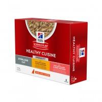 Pâtée en boîte pour chat adulte - Hill's Science Plan Adult Sterilised - Mijotés Healthy Cuisine Healthy Cuisine