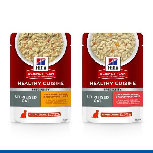 Alimentation pour chat - Hill's Science Plan Adult Sterilised - Mijotés Healthy Cuisine pour chats