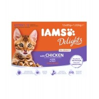 Sachet fraîcheur pour chaton - IAMS Delights Kitten - Lot 12 x 85 g Delights Kitten - Lot 12 x 85 g