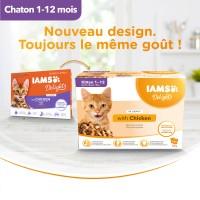 Sachet fraîcheur pour chaton - IAMS Delights Kitten - Lot 12 x 85 g
