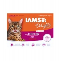 Sachet fraîcheur pour chat - IAMS Delights Senior - Lot 12 x 85 g Delights Senior - Lot 12 x 85 g