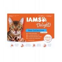Sachet fraîcheur pour chat - IAMS Delights Adult - Lot 12 x 85 g