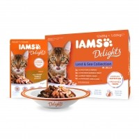 Sachet fraîcheur pour chat - IAMS Delights Adult - Lot 12 x 85 g Delights Adult - Lot 12 x 85 g