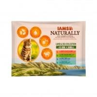 Sachet fraîcheur pour chat - IAMS Naturally Saveurs Terre & Mer - multipack adulte IAMS Naturally