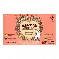 Pâtée en barquette pour chat - Lily's Kitchen Multipack Patée Adulte Sans Céréales