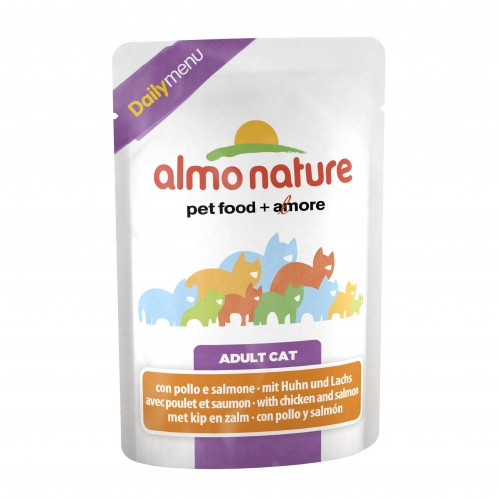 Alimentation pour chat - Almo Nature Daily Adult - Lot 6 x 70g pour chats