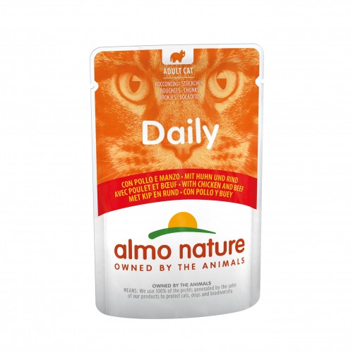Alimentation pour chat - Almo Nature Daily Adult - Lot 30 x 70g pour chats