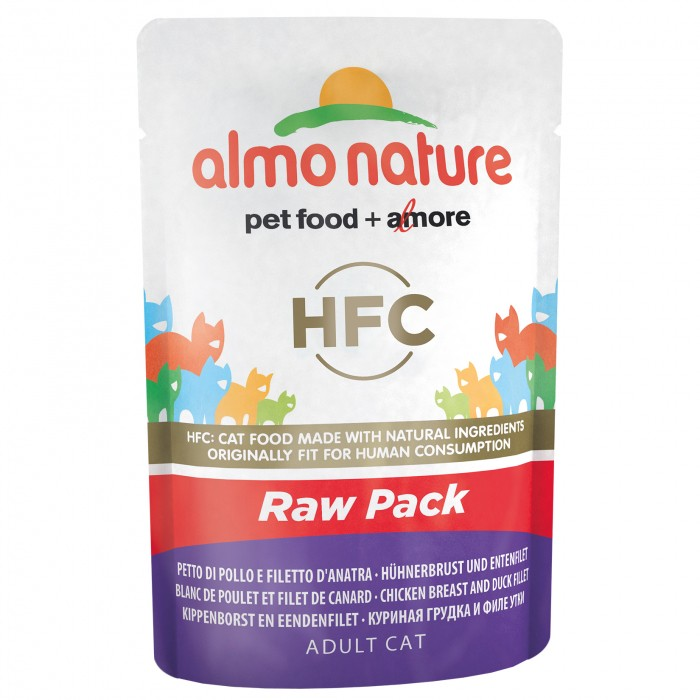 Alimentation pour chat - Almo Nature HFC Raw pack - 24 x 55g pour chats