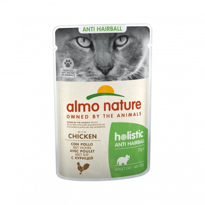 Alimentation pour chat - Almo Nature Holistic Fonctionnel - Anti Hairball pour chats