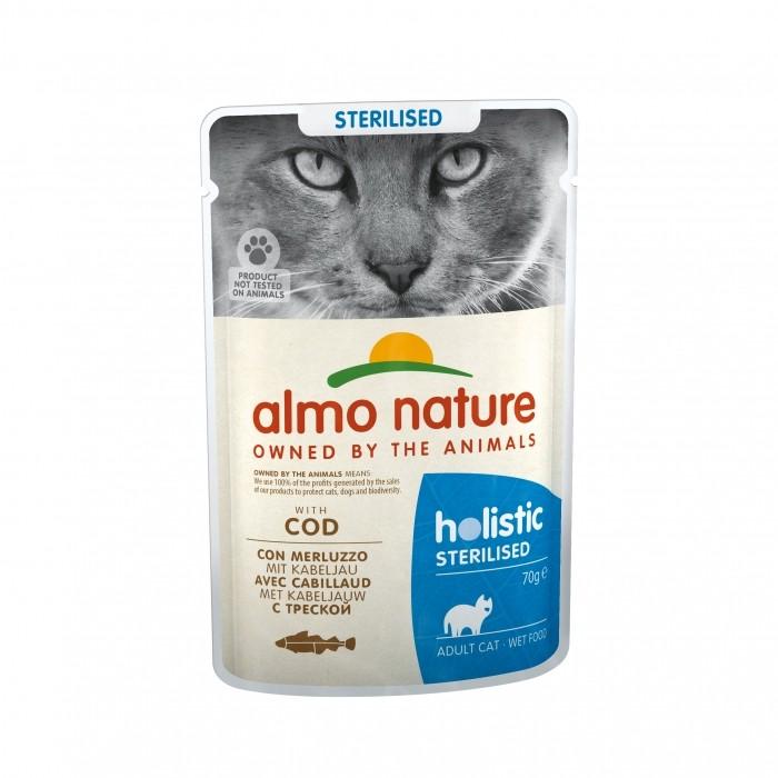 Alimentation pour chat - Almo Nature Holistic Fonctionnel Sterilised - 30 x 70 g pour chats