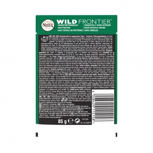 Alimentation pour chat - Nutro Wild Frontier Adulte - 24 x 85 g pour chats