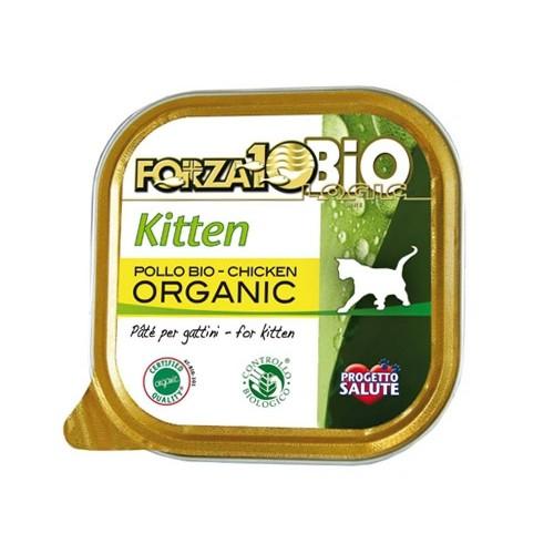 Pâtée en barquette pour chaton - FORZA 10 EveryDay Kitten Bio - Lot 6 x 100g
