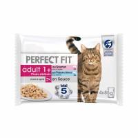 Pâtée en sachet pour chat - PERFECT FIT Adult 1+ chats stérilisés