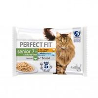 Pâtée en sachet pour chat - PERFECT FIT Senior 7+ Chats Stérilisés