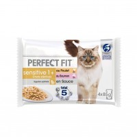 Pâtée en sachet pour chat - PERFECT FIT Sensitive 1+ chats stérilisés