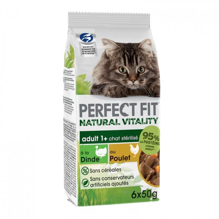 Alimentation pour chat - PERFECT FIT™ Natural Vitality Adult 1+ chats stérilisés poulet et dinde pour chats