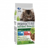Sachets fraîcheur pour chat - PERFECT FIT™ Natural Vitality Adult 1+ chats stérilisés saumon et poisson PERFECT FIT™