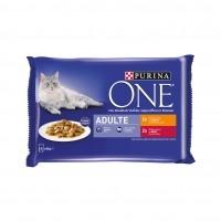 Sachet fraîcheur pour chat - PURINA ONE Adulte - 4 x 85g Adulte - 4 x 85g