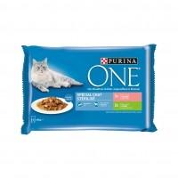 Sachet fraîcheur pour chat - PURINA ONE Chat stérilisé - 4 x 85g