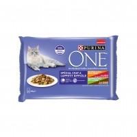 Sachet fraîcheur pour chat - PURINA ONE Chat à l'appétit difficile - 4 x 85 g