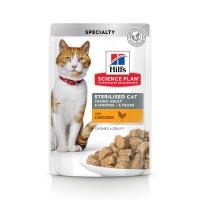 Sachet fraîcheur pour chat stérilisé de 6 mois à 6 ans - HILL'S Science Plan Sterilised Cat Young Adult