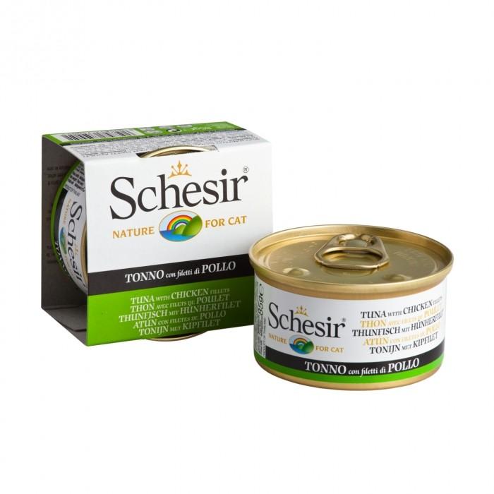 Alimentation pour chat - Schesir Pâtée en gelée Adult - Lot 14 x 85g pour chats