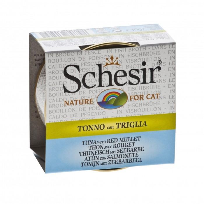 Alimentation pour chat - Schesir Pâtée en bouillon Adult - Lot 14 x 70g pour chats