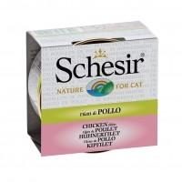 Pâtée en boîte pour chat - Schesir Pâtée en bouillon Adult - Lot 14 x 70g