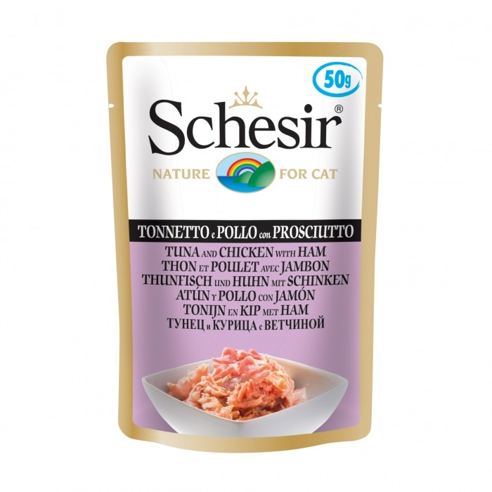 Alimentation pour chat - Schesir   Sachet Pâtée en gelée Adult - Lot 30 x 50g pour chats