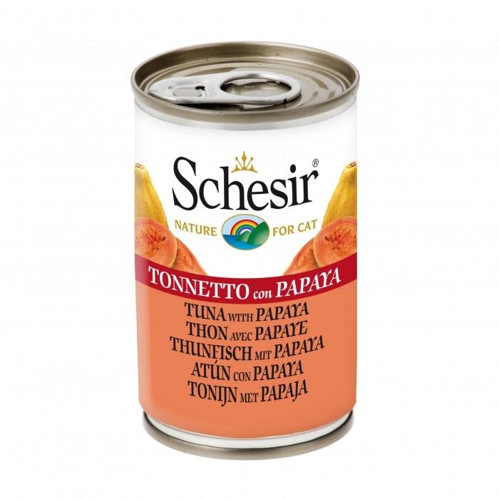 Alimentation pour chat - Schesir Pâtée en morceaux Adult - Lot 24 x 140g pour chats