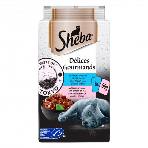 Alimentation pour chat - SHEBA Délices Gourmands pour chats