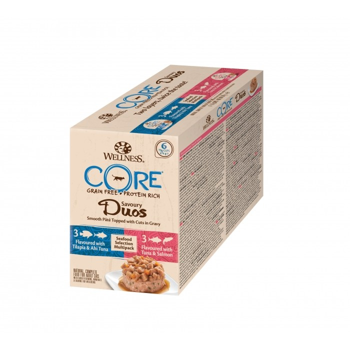 Alimentation pour chat - Wellness CORE Savoury Duos - 6 x 79 g pour chats