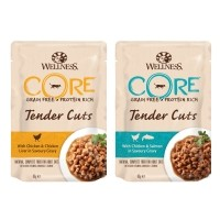 Pâtée en sachet pour chat - Wellness CORE Tender Cuts - 6 x 85 g
