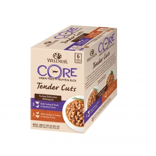 Alimentation pour chat - Wellness CORE Tender Cuts - 6 x 85 g pour chats