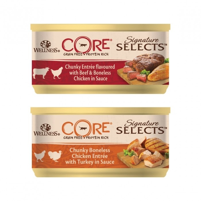 Alimentation pour chat - Wellness CORE Signature Selects - 8 x 79 g pour chats