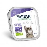 Pâtée en barquette pour chat - Yarrah Bouchées Grain Free Bio  - Lot de 6 x 100g